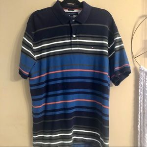 Tommy Hilfiger Color Block Striped Polo